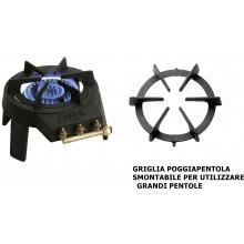 FOKER FORNELLONE 1 FUOCO GAS BOMBOLA IN GHISA CE DIAM 30 CM PRODOTTO ITALIANO