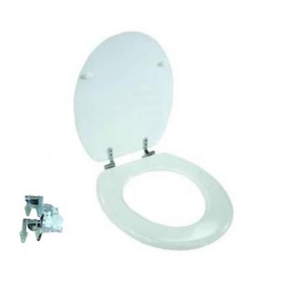 Sedile Wc Laccato Bianco Con Chiusura Rallentata Universale Fer 389051