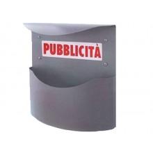 Cassetta postale pubblicita' marsupio color argento cmL34,5xp12,5xh35 FRA 48078