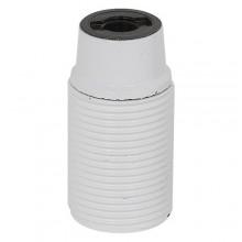 PORTALAMPADA E27 camicia filettata - col.bianco