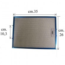 1 FILTRO CAPPA ALLUMINIO mm260x351x8 TECNOWIND : TW 4FIL0097  F 262