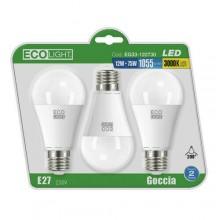 LAMPADINE ECOLIGHT LED E27 SF12W C.CF3PZ