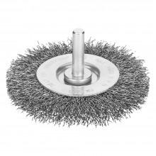 SPAZZOLA CIRCOLARE CON GAMBO Ø mm 100 - spessore fili 12 mm