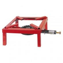 FORNELLONE A GAS 'EXTRA' cm 45 x 45 IN METALLO ROSSO O NERO   PZ 2