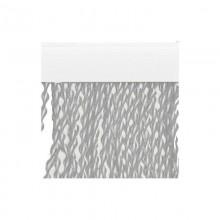TENDA A CORDONCINO 'CAMELIA' cm 100 x 220 - cristallo/bianco