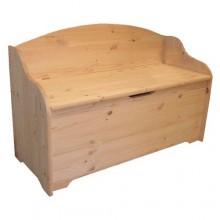 CASSAPANCA CON SCHIENALE cm 100 x 40 x h 95 - legno chiaro