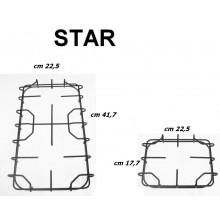 STAR GRIGLIE SMALTATE NERE CUCINA 2 F + 1 F CM 41,7 X 22,5 + 225 x 177 P 5552 53