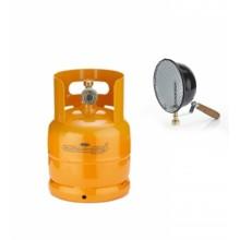 BOMBOLA RICARICABILE 1 KG / 2,5 LT + FARO A GAS 500 W DA CAMPEGGIO CAMPER VUOTA