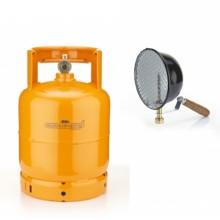 BOMBOLA 3 KG- (7 L) RICARICABILE DA CAMPEGGIO + FARO A GAS 500 W  CAMPER  VUOTA