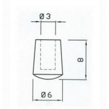 GOMMINO ANTIGRAFFIO PER GRIGLIA CUCINA GAS 4 PZ ARISTON INDESIT COD P0004