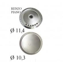 SMEG RENZO PIANO ANELLO + PIATTELLO SPARTIFIAMMA ULTRARAPIDO NO ORIGINALE S 5355