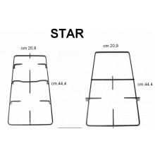STAR 2 GRIGLIE PIATTINA SMALTATE NERE CUCINA CM 44,4 X 20,9 KP560-60-5F P 5550/1