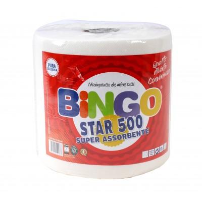 ASCIUGATUTTO BOBINA ROTOLI  CARTA  BINGO STAR 500 STRAPPI PR 447101