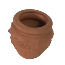 VASO MINI GIARA ORCIO IN TERRACOTTA NO FORO INFERIORE  diam 11X 8  h     CA 26